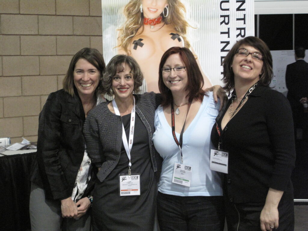 Barb Brents, Lynn Comella, Crystal Jackson & Kate Hausbeck at AEE 2010