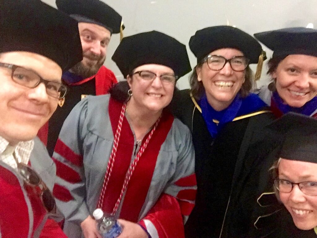 Prof. Barb Brents with Sociology Graduates